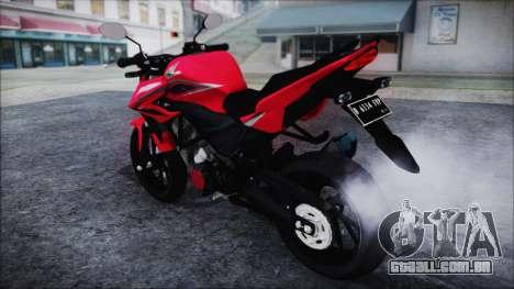 Honda CB150R Red para GTA San Andreas traseira esquerda vista