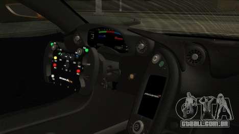 McLaren P1 GTR 2015 para GTA San Andreas vista direita