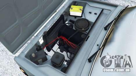 GTA 5 VAZ-2107 [Riva] traseira direita vista lateral