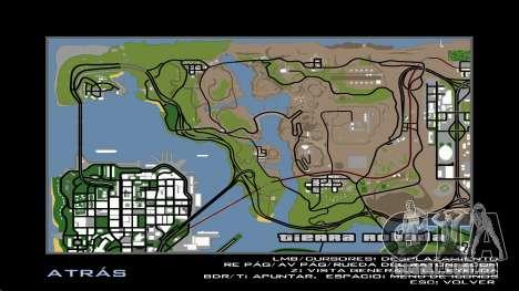 HD Radar Mapa para GTA San Andreas sexta tela