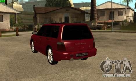 Subaru Forester 2006 para GTA San Andreas esquerda vista