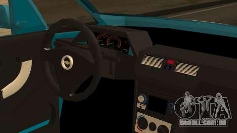 Chevrolet Meriva de Seguridad Vial para GTA San Andreas vista traseira