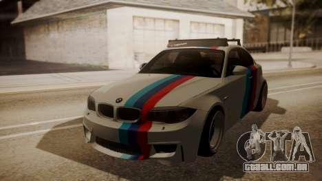 BMW 1M E82 with Sunroof para GTA San Andreas vista interior