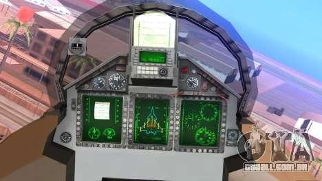 Mikoyan MIG 1.44 Flatpack Venezuelan Air Force para GTA San Andreas vista direita