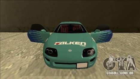 Toyota Supra Falken Drift para GTA San Andreas vista superior