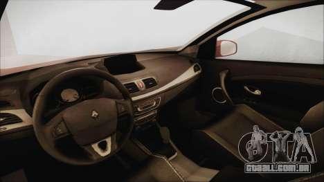 Renault Megane 3 para GTA San Andreas vista direita