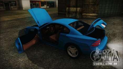 Ford Mustang GT 1993 v1.1 para GTA San Andreas vista interior
