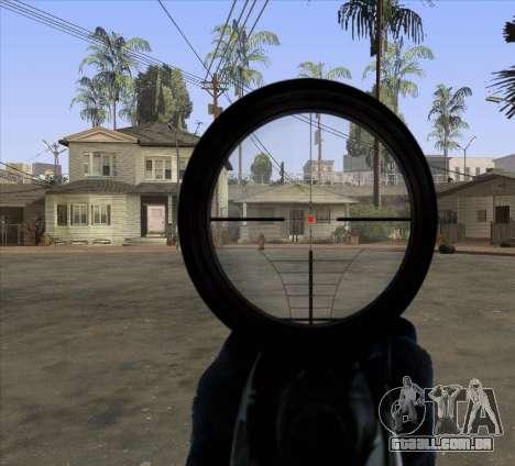 Sniper Scope v2 para GTA San Andreas terceira tela