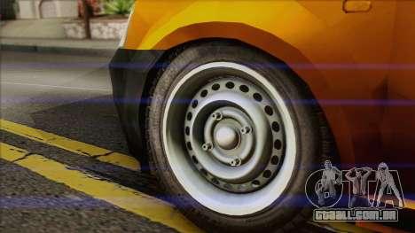 Dacia Logan Pickup 6x6 para GTA San Andreas traseira esquerda vista