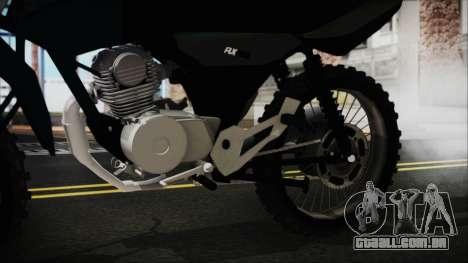Zanella RX150 Cross para GTA San Andreas vista direita
