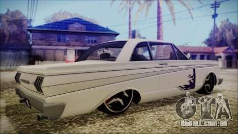 Blade Custom para GTA San Andreas esquerda vista