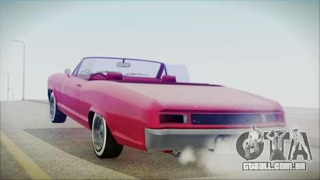 GTA 5 Albany Buccaneer Custom IVF para GTA San Andreas esquerda vista