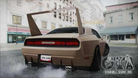 Dodge Challenger Daytona para GTA San Andreas traseira esquerda vista