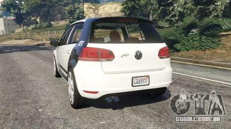 GTA 5 Volkswagen Golf Mk6 v2.0 [ABT] traseira vista lateral esquerda