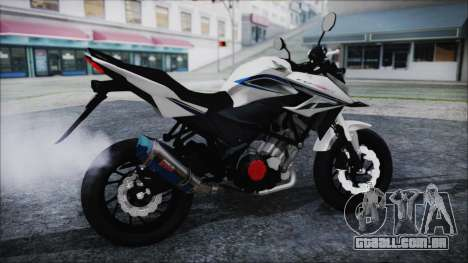 Honda CB150R White para GTA San Andreas traseira esquerda vista