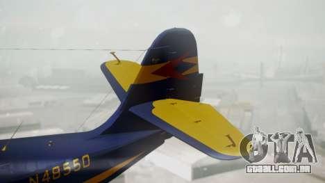 Grumman G-21 Goose N48550 para GTA San Andreas traseira esquerda vista