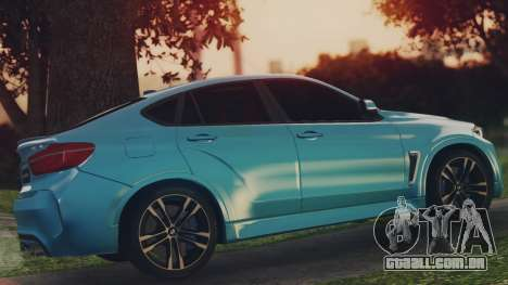 BMW X6M F86 v2.0 para GTA San Andreas esquerda vista