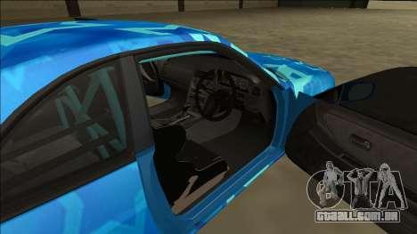 Nissan Skyline R33 Drift Blue Star para vista lateral GTA San Andreas