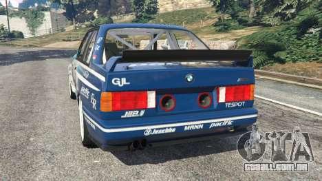 GTA 5 BMW M3 (E30) 1991 [Jeschke] v1.2 traseira vista lateral esquerda