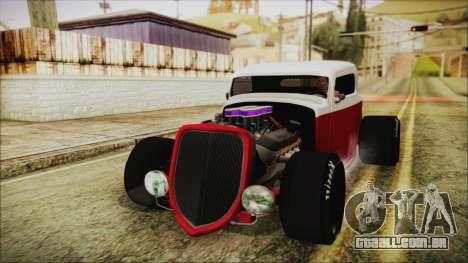 Ford 32 para GTA San Andreas traseira esquerda vista