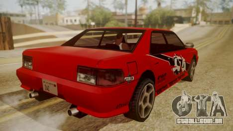 Sultan FnF Skins para GTA San Andreas vista interior