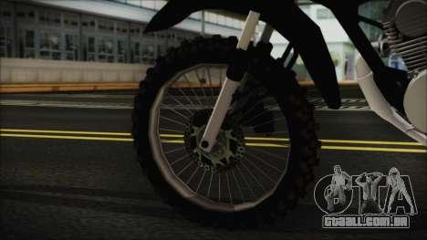 Zanella RX150 Cross para GTA San Andreas traseira esquerda vista