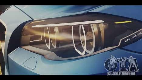 BMW M5 F10 Stock MTA Version para GTA San Andreas vista traseira