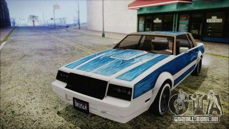 GTA 5 Willard Faction Custom Bobble Version IVF para GTA San Andreas vista traseira
