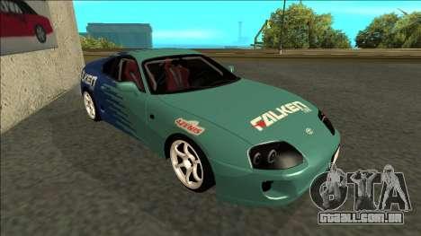 Toyota Supra Falken Drift para GTA San Andreas esquerda vista