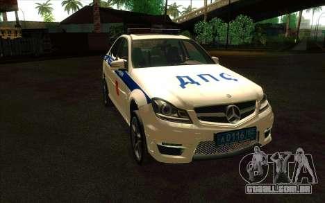 Mercedes-Benz C63 AMG ДПС para GTA San Andreas