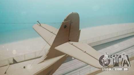 Grumman G-21 Goose WhiteBlueLines para GTA San Andreas traseira esquerda vista