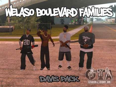 Welaso Boulevard Familis [Davis Pack] para GTA San Andreas