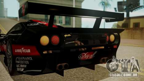 McLaren F1 GTR 1998 Day Off para vista lateral GTA San Andreas