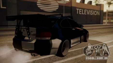 BMW 1M E82 with Sunroof para GTA San Andreas vista inferior