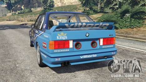 GTA 5 BMW M3 (E30) 1991 [Kings] v1.2 traseira vista lateral esquerda