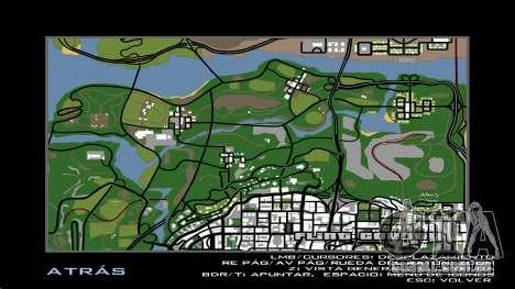 HD Radar Mapa para GTA San Andreas quinto tela