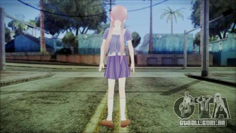 Yuno Gasai Mirai Nikki para GTA San Andreas terceira tela