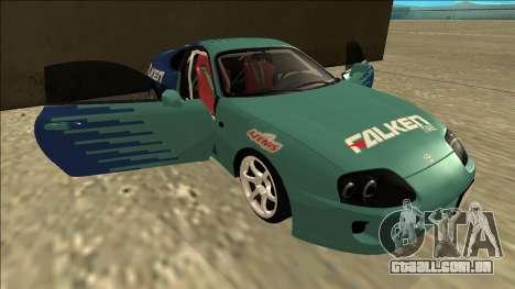 Toyota Supra Falken Drift para GTA San Andreas vista inferior