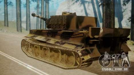 Panzerkampfwagen VI Tiger Ausf. H1 para GTA San Andreas esquerda vista