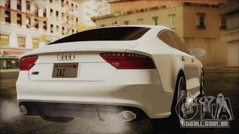 Audi RS7 Sportback 2015 para GTA San Andreas esquerda vista
