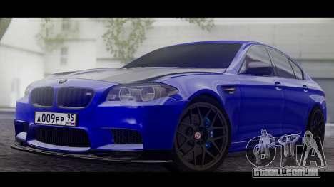 BMW M5 F10 Top Service MSK para GTA San Andreas esquerda vista