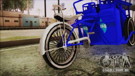 Bici Colgas para GTA San Andreas traseira esquerda vista
