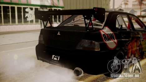 Mitsubishi Lancer Evolution Pushkar para GTA San Andreas vista traseira