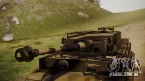 Panzerkampfwagen VI Tiger Ausf. H1 No Interior para GTA San Andreas vista direita