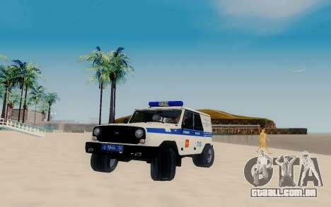 UAZ Caçador SPSP para GTA San Andreas