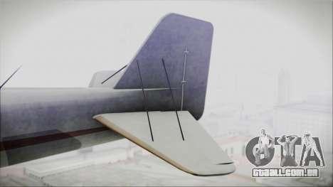 GTA 5 Duster para GTA San Andreas traseira esquerda vista