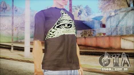 Illuminati T-Shirt para GTA San Andreas terceira tela