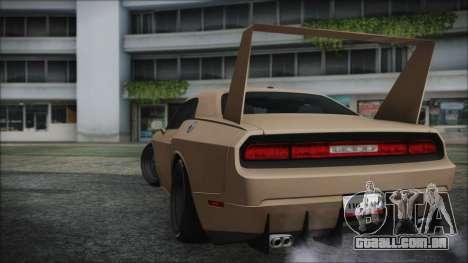Dodge Challenger Daytona para GTA San Andreas esquerda vista