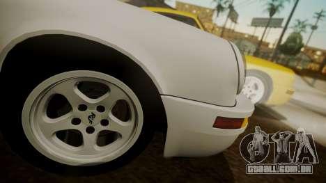 RUF CTR Yellowbird (911) 1987 HQLM para GTA San Andreas traseira esquerda vista