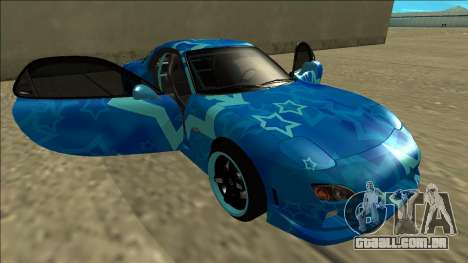 Mazda RX-7 Drift Blue Star para GTA San Andreas vista inferior